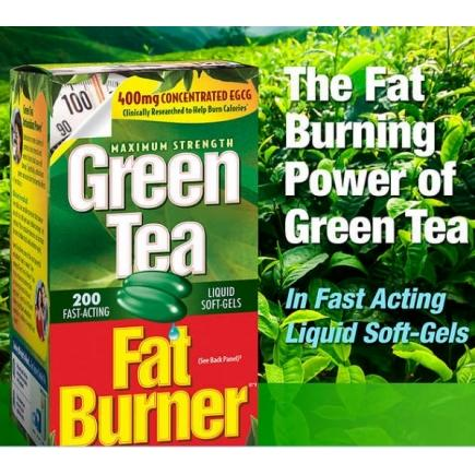 【美国直邮】减肥绿茶Green Tea Fat Burner, 200 Liquid Soft-Ge