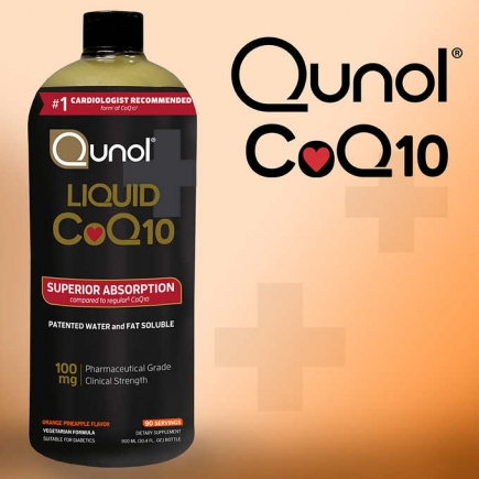 【美国直邮】Qunol Liquid CoQ10 100 mg., 30.4 Ounces 液体辅酶