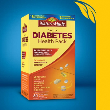 【美国直邮】Nature Made Diabetes Health Pack, 60 Packets
